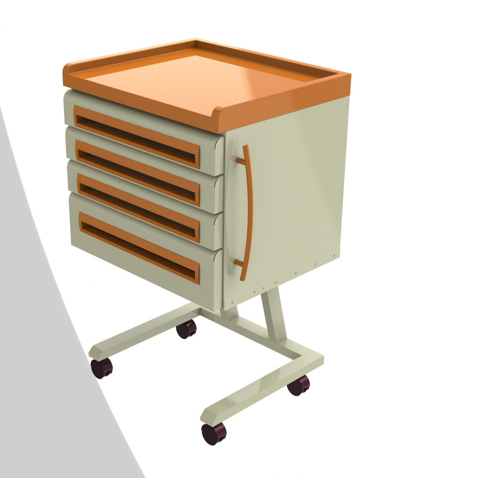 KD120-Mobil Modül 4 Çekmeceli