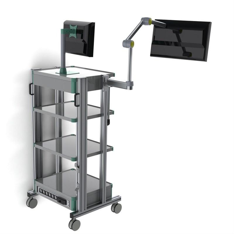 T40 Endoskopi Laparoskopi Trolley Çift Monitör (1)